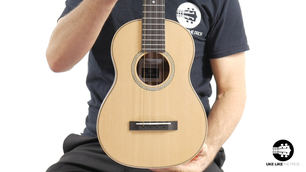 "Romero Creations Replica Tenor Ukulele Solid Spruce Top/Solid Acacia Sides & Back (RC-RS-SA) ""Roadhouse Blues"" B Stock"