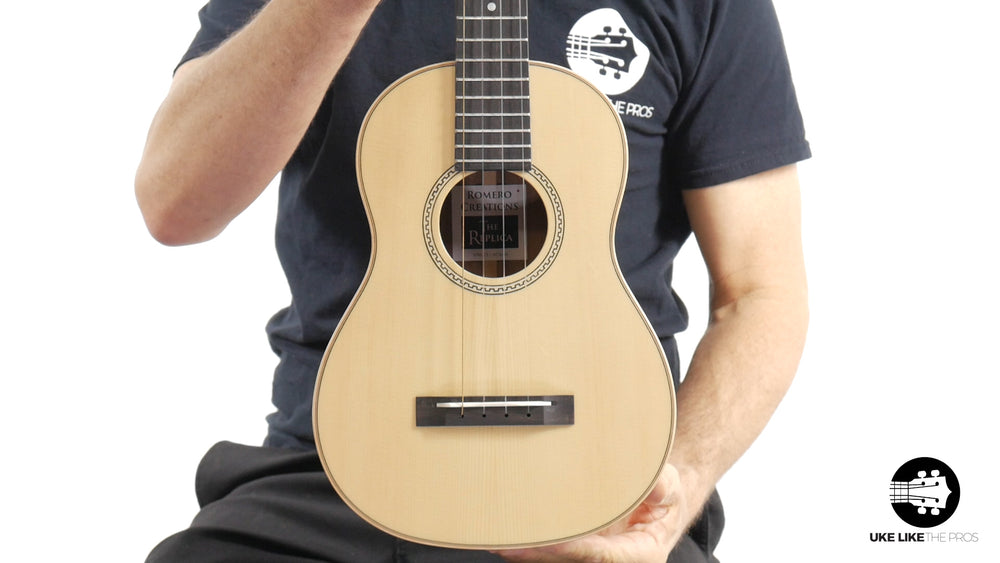 "Romero Creations Replica Tenor Ukulele Solid Spruce Top/Solid Acacia Sides & Back (RC-RS-SA) ""The End"" B Stock"