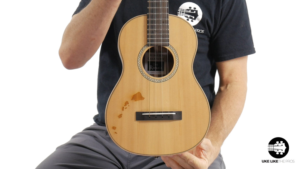 "Romero Creations Replica Tenor Ukulele Solid Spruce Top/Solid Acacia Sides & Back RC-RS-SA ""Fuchsia"" DISCOUNT"