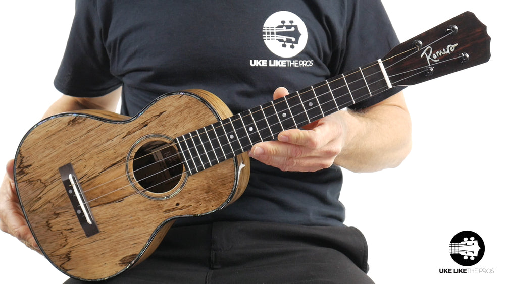 "Romero Creations RC-R-MG Replica Tenor Ukulele Spalted Mango ""Black Bart"""