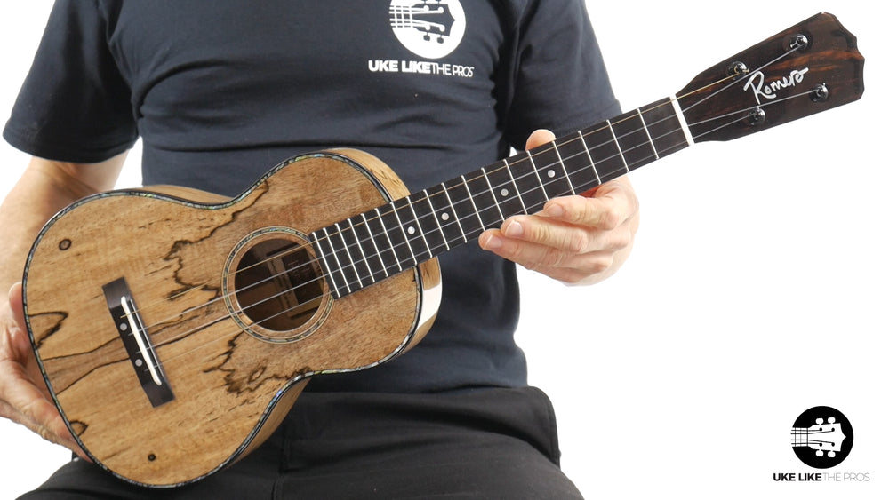"Romero Creations RC-R-MG Replica Tenor Ukulele Spalted Mango ""Firestorm"""