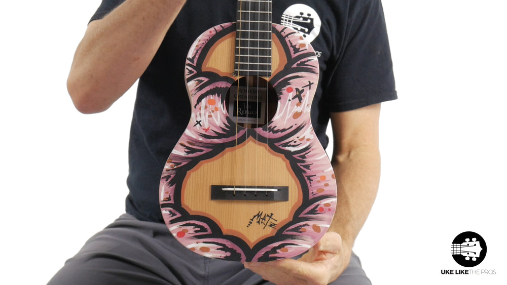 "Romero Creations Replica Tenor Ukulele Solid Spruce Top/Solid Acacia Sides & Back RC-RS-SA ""Painted Lady"""