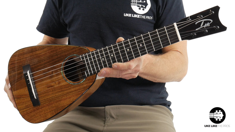 "Romero Creations RC-TT6-K Tiny Tenor 6 String Koa Guilele ""Torrey Pines"""