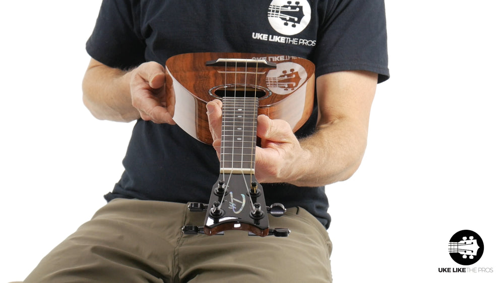 "Romero Creations Daniel Ho Tiny Tenor Ukulele Koa RC-TT-K ""Red Rocker"""