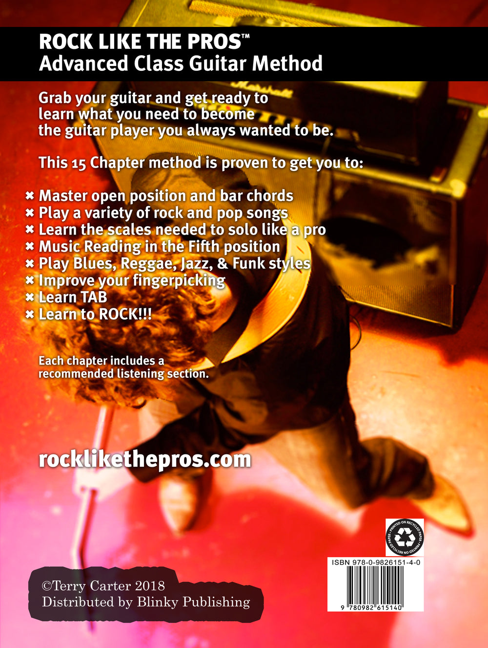 Rock Like The Pros Advanced Class Guitar Method Book