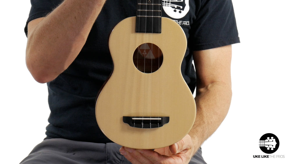 "Rebel Double Cheese Soprano Ukulele Solid Spruce and Solid Mahogany ""Giget"""