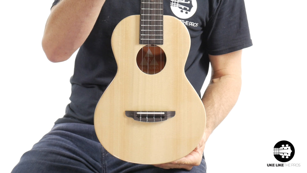 "Rebel Double Cheese Tenor Ukulele Solid Spruce Top and Mahogany ""Spitfire"""
