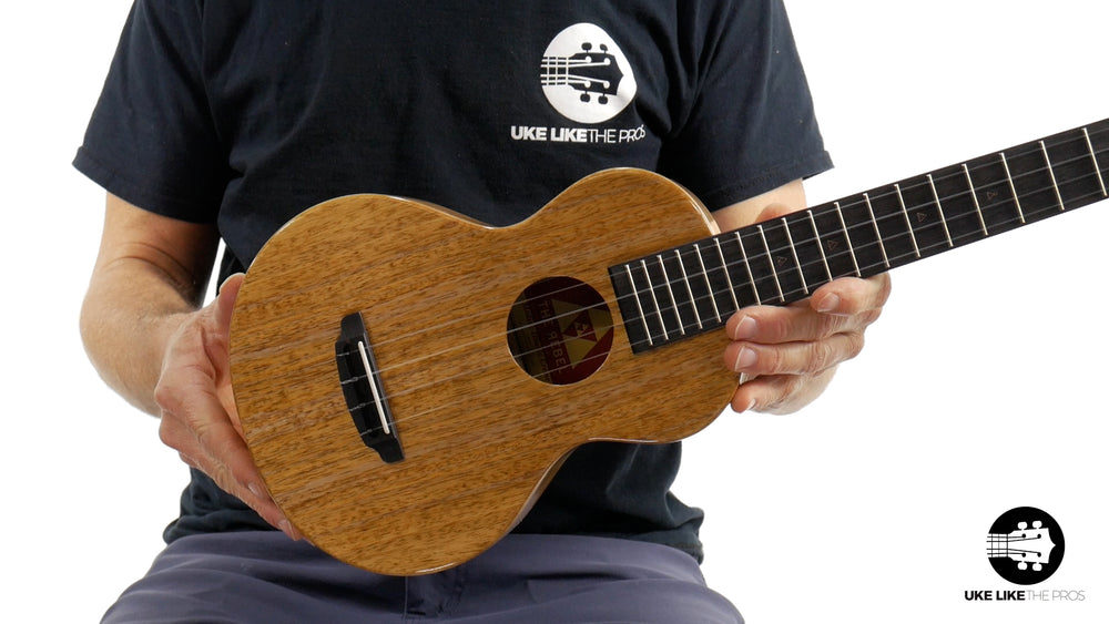 "Rebel Double Creme Mango Super Concert Ukulele ""Carolina"""