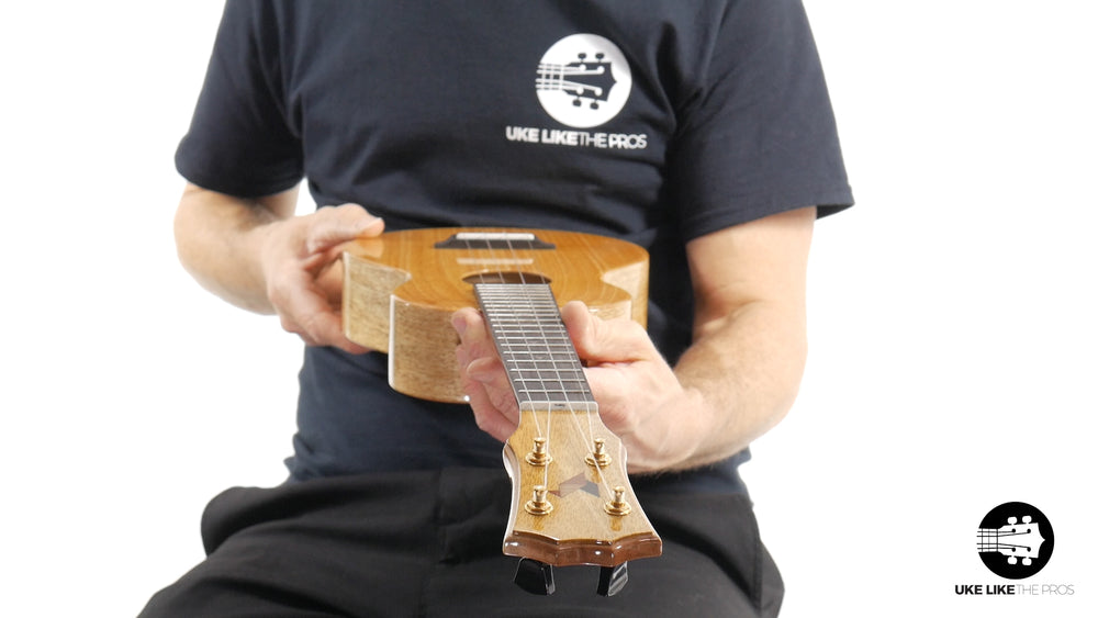 "Rebel Double Creme Long Neck Concert Ukulele Mango ""Mango Magic"""