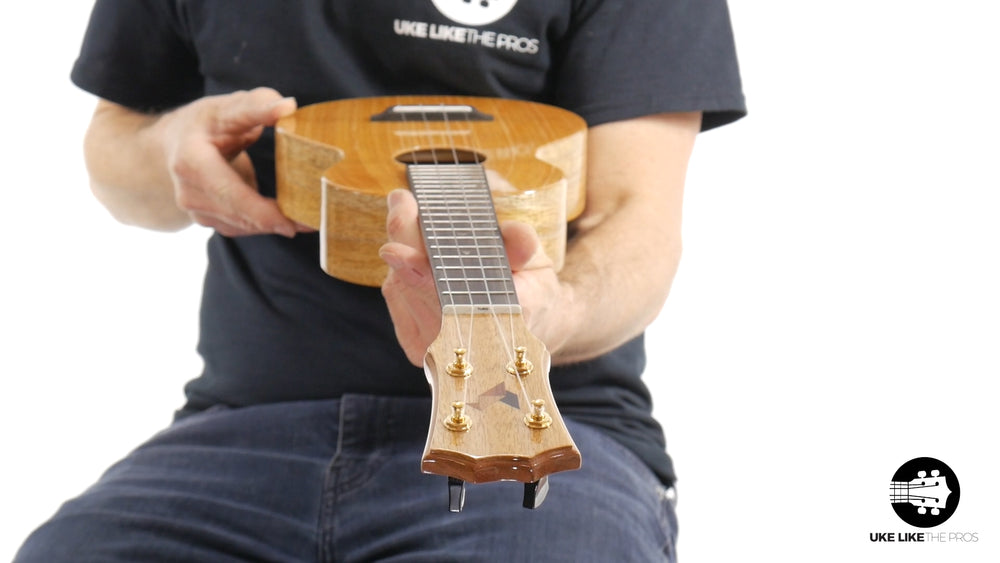 "Rebel Double Creme Long Neck Concert Ukulele Mango ""Oingo Boingo"""