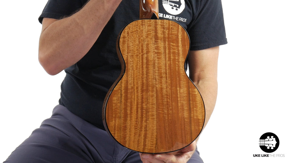 "Rebel Pluto Tenor Ukulele Solid Spruce Top and Curly Acacia ""Fire Walk"""