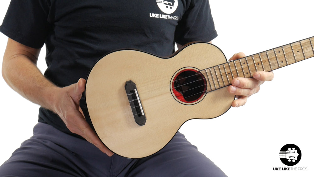 "Rebel Pluto Tenor Ukulele Solid Spruce Top and Curly Acacia ""Imperial Guard"""