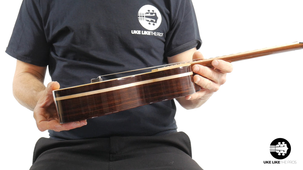 "Rebel Quark Tenor Ukulele Solid Spruce Top and Solid Rosewood ""The Hitman"" B Stock 10% Off"