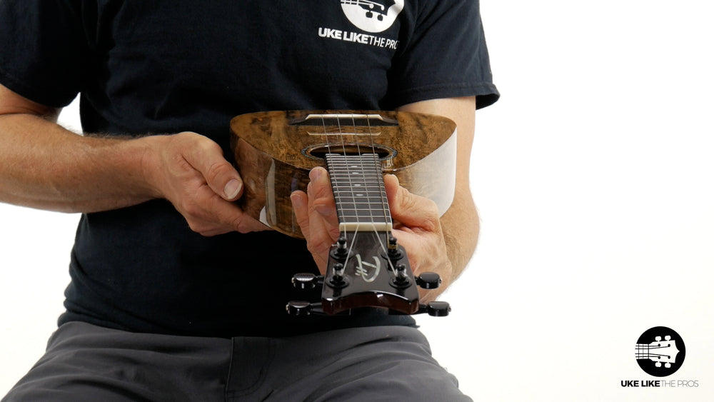 "Romero Creations ST Concert Ukulele Spalted Chocolate Mango RC-ST-MG ""Black Widow"""
