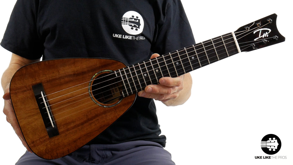 "Romero Creations RC-TT6-K Tiny Tenor 6 String Koa Guilele ""Pictor"" Tuned A to A"