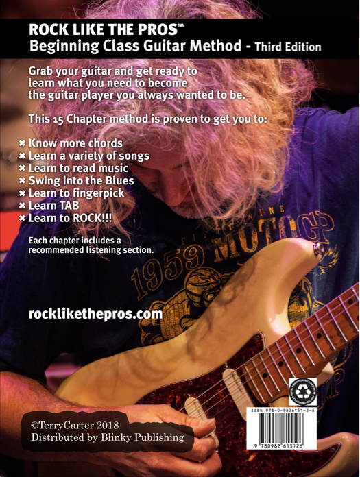 Rock Like The Pros Beginning Class Guitar Method Book