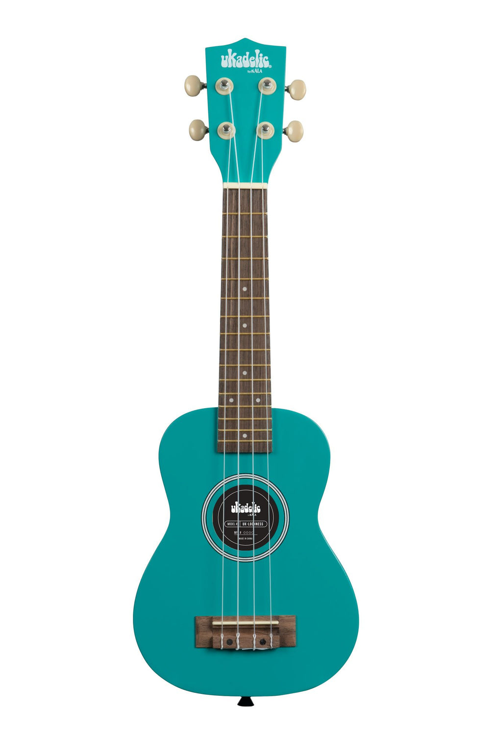 KALA Ukadelic Lockness Aqua Soprano Ukulele Pack with Tote Bag UK-LOCHNESS
