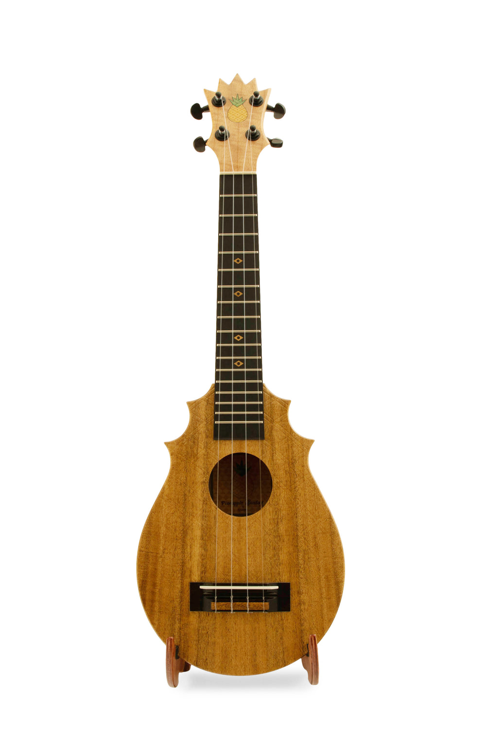 "UkeSA Pineapple Sunday Opio Concert Ukulele Solid Acacia ""Magnus"" by Pops KoAloha (DISCOUNTED $387)"