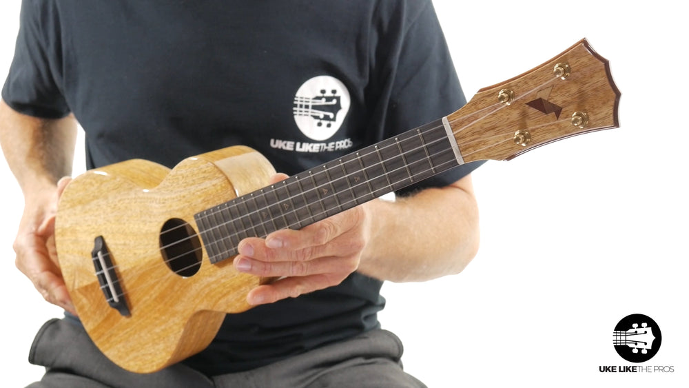 "Rebel Double Creme Long Neck Concert Ukulele Mango ""Butter"""
