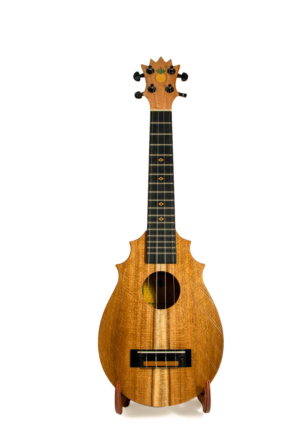 "UkeSA Pineapple Sunday Opio Concert Ukulele Solid Acacia ""Aurelius"" by Pops KoAloha (DISCOUNTED $387)"