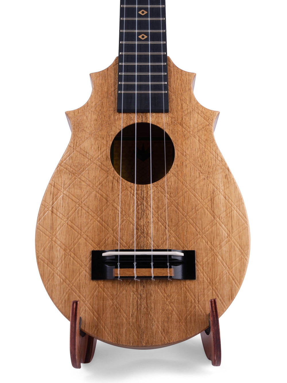 "UkeSA Pineapple Sunday Opio Concert Ukulele Solid Acacia ""Caesar"" by Pops KoAloha (DISCOUNTED $387)"