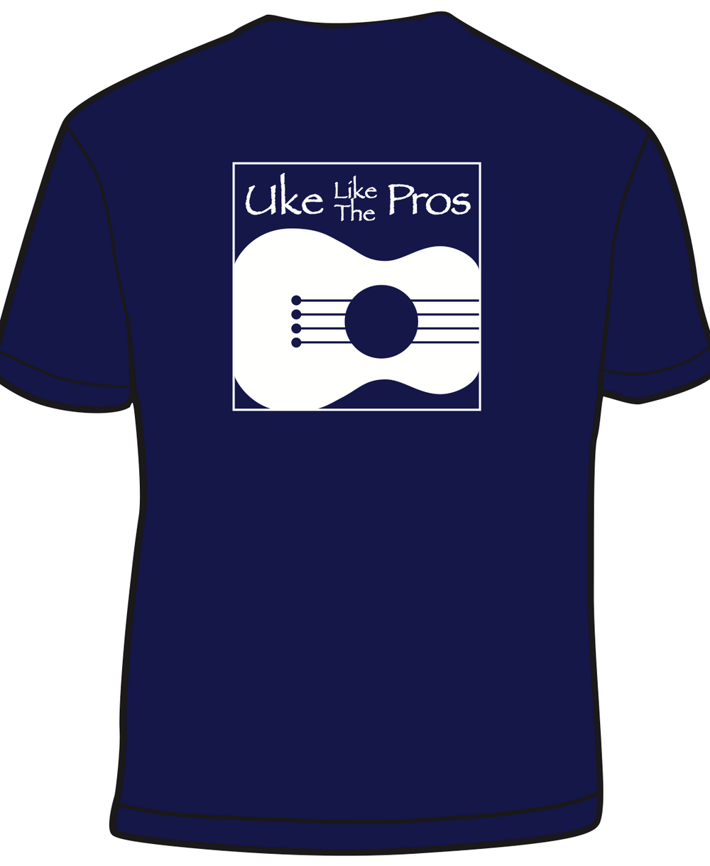 Uke Like The Pros T-Shirt (Original Logo)