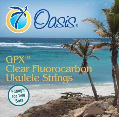 Oasis UKE-8001F Clear Fluorocarbon Bright Ukulele Strings Tenor Low G (GCEA Tuning) Unwound Low G