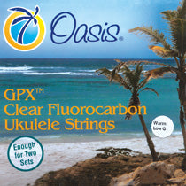 Oasis GPX Clear Fluorocarbon Ukulele Strings Warm UKE-8101 Wound Low G