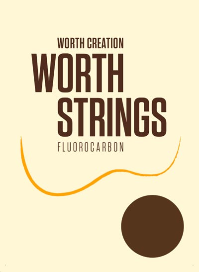 Worth Brown Fluorocarbon Baritone Ukulele Strings BB 63 (D-G-B-E) Enough For 2 Sets