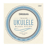 D'Addario Black Nylon Ukulele Strings Tenor High G (EJ53T)