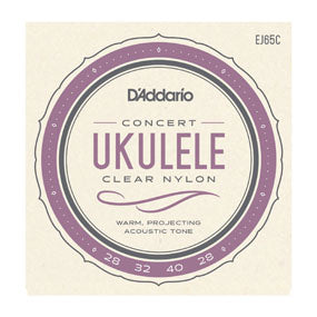 D'Addario Clear Nylon Ukulele Strings Concert High G (EJ65C )