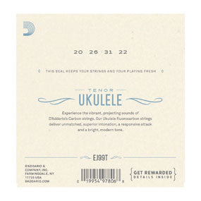 D'Addario Pro-Arté Carbon Ukulele Strings, Tenor High G (EJ99T) - SPECIAL SALE