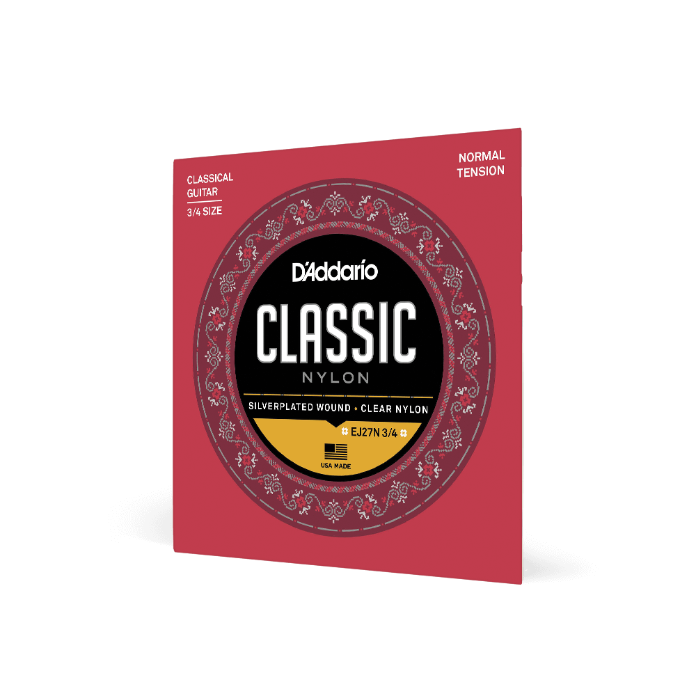 D'Addario EJ27N 3/4 Size Classical Guitar & Guitarlele Nylon Strings Normal Tension