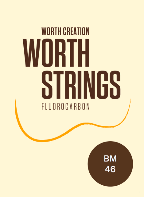 Worth Brown Fluorocarbon Soprano/Concert HIGH G Ukulele Strings Medium BM 46 (G-C-E-A) Enough For 2 Sets