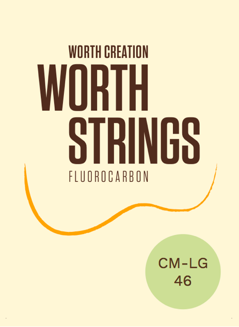 Worth Clear Fluorocarbon Medium Soprano/Concert Low-G Ukulele Strings CM-LG 46 inch (G-C-E-A) Enough For 2 Sets