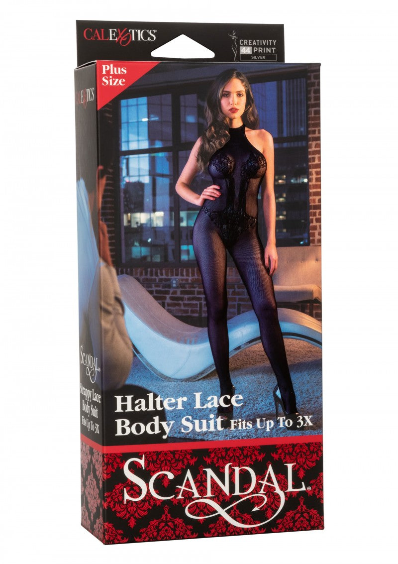 Scandal | Halter Lace Body Suit | Plus Size