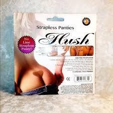 2 X Hush Strapless Totally Invisible Panties, Silicone & Spandex Washable & Reusable
