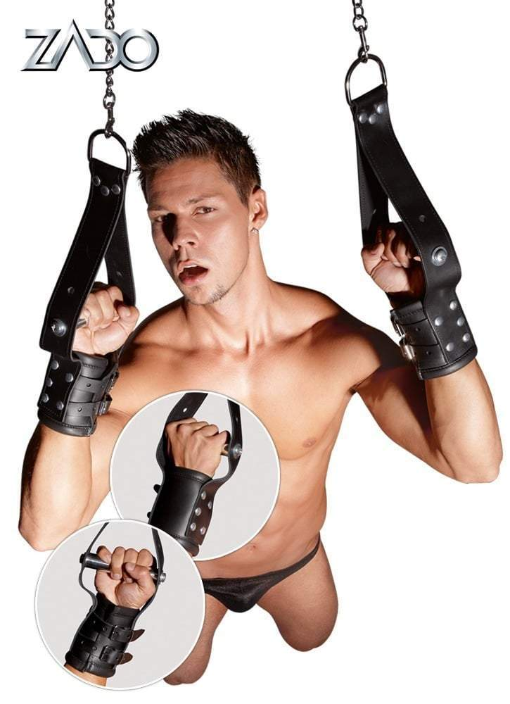 Zado Leather Hanging Restraints for Him