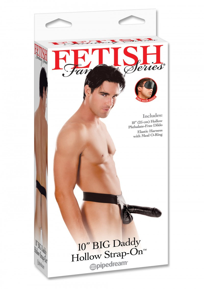 Big Daddy | Hollow 10 Inch | Strap-on | Black