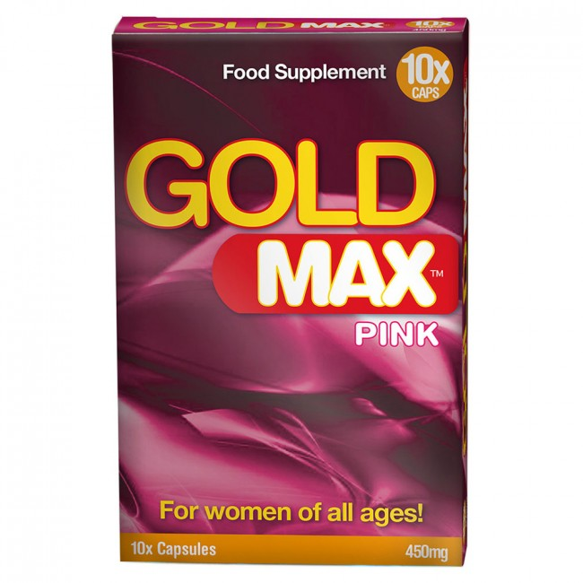 GoldMAX Libido Supplement 10 Pack For Women No Colour 450mg | Better Sex, Sex Enhancement, Climax Delay, Sex Toys, Adult Toys | My Sex Shop