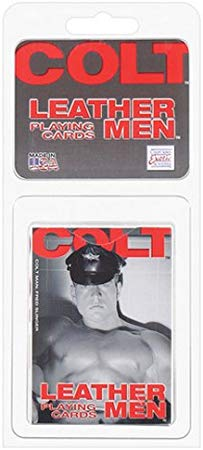 Leather-men playing cards