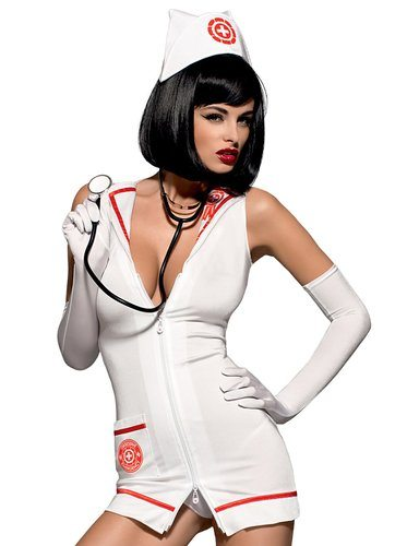 4 pc High Quality Nurse Costume, hot hot ! | My Sex Shop