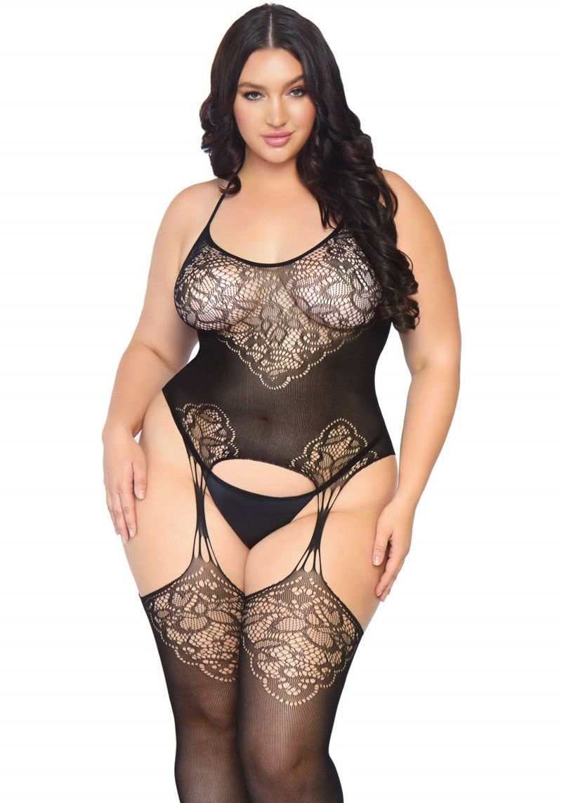 Lace Suspender Bodystocking +