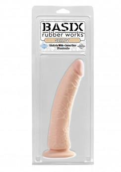 "Basix Skin Rubber Works 7"" Slim With Suction Cup 