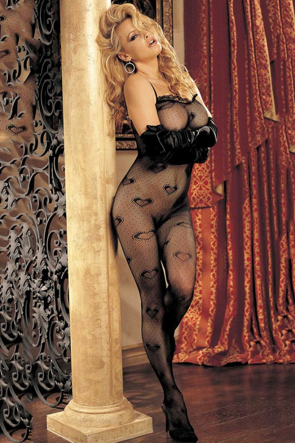Merry See Sexy Heart Patterned Body Stocking | Sexy Outfits, Sexy Lingerie, Sex Toys For Women, Sex Toys, Adult Toys | My Sex Shop