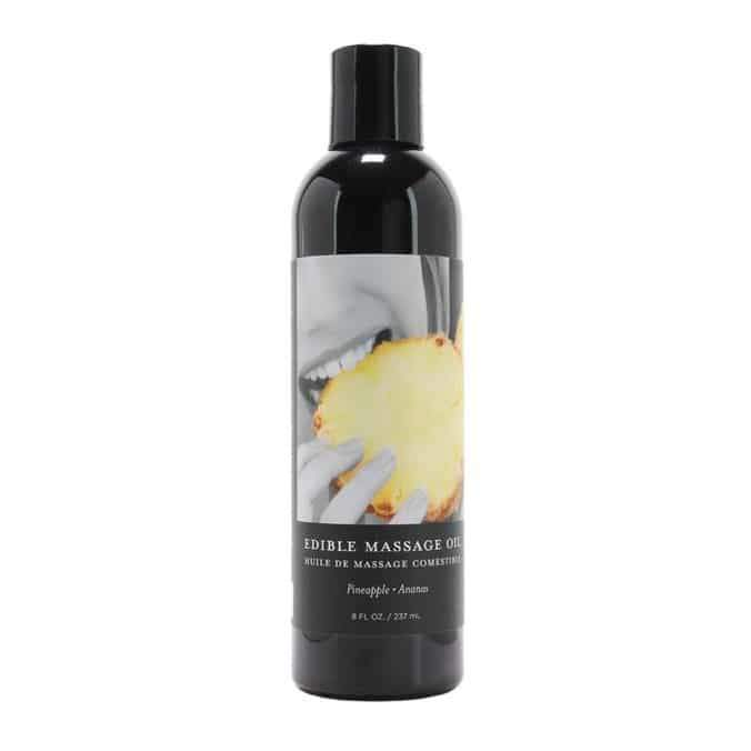 Edible Massage Oil 60ml Pineapple, cruelty free and assuredly vegan.