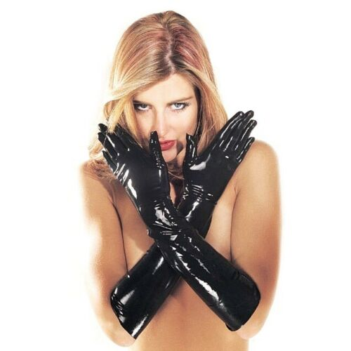 Sharon Sloane Latex Gauntlets | Black