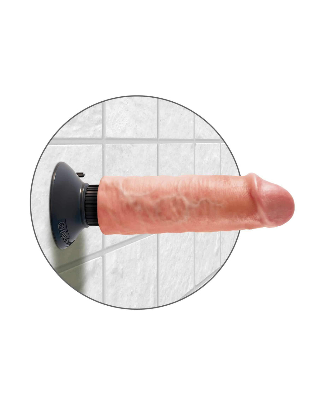 "King Cock 6"" Vibrating Cock Flesh 