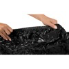Lack | Fitted Sheet Vinyl | Massage Slippery | 220 x 230 cm | Black