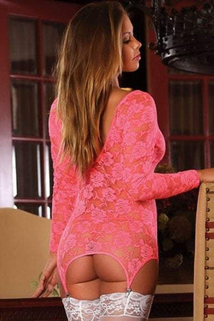 Merry See Pink Floral Long Lace with stockings | Sexy Outfits, Sexy Lingerie, Sex Toys For Women, Sex Toys, Adult Toys | My Sex Shop